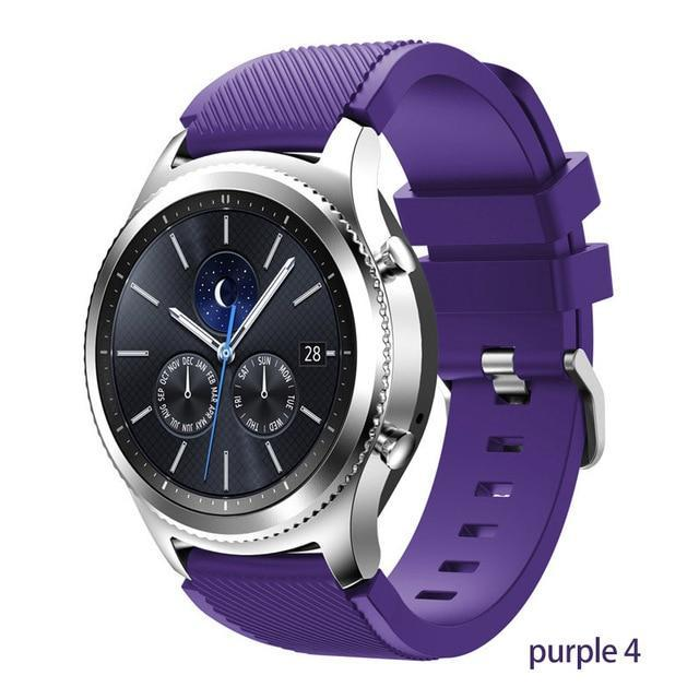 Watchbands purple 4 / 22mm 20 22mm watch band For Samsung Galaxy watch 46mm 42mm active 2 gear S3 Frontier strap huawei watch GT 2 strap amazfit bip 47 44