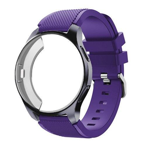 Watchbands purple 4 / Galaxy watch 42mm Case+20mm watch strap For Samsung gear S3 Frontier 46mm huawei watch GT strap 22mm watch band amazfit bip strap+protective case