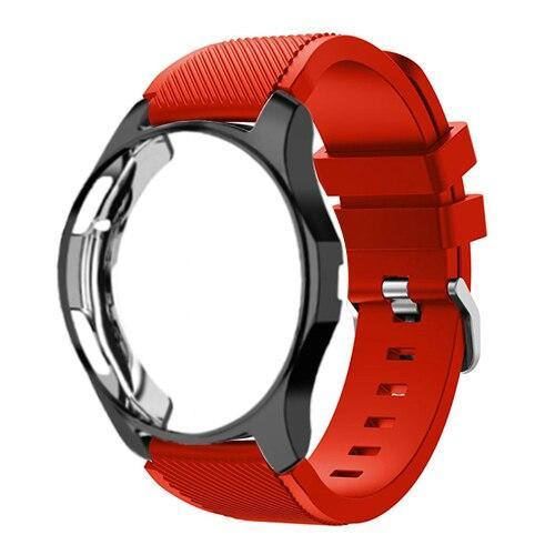 Watchbands red 12 / Galaxy watch 42mm Case+20mm watch strap For Samsung gear S3 Frontier 46mm huawei watch GT strap 22mm watch band amazfit bip strap+protective case