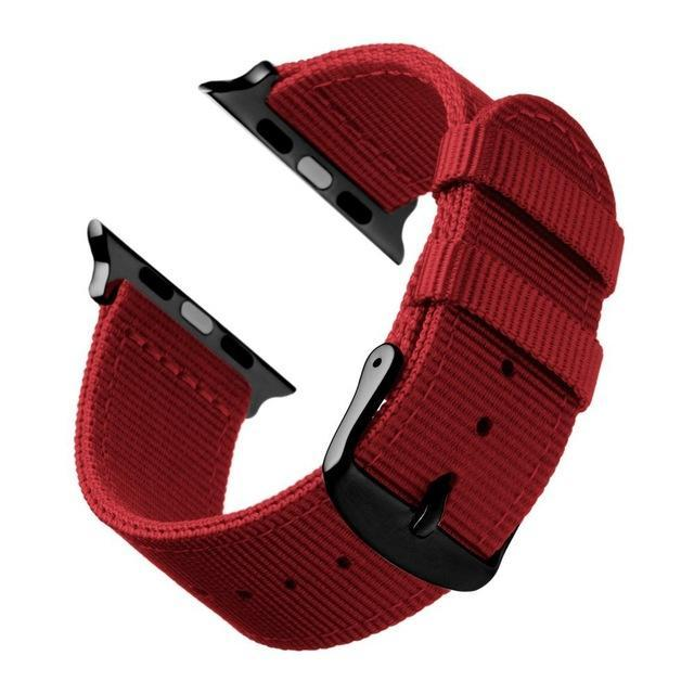 Watchbands Red Black / 44mm Eastar Lightweight Breathable waterproof Nylon strap for apple watch 5 band 42mm 38mm for iWatch serise 4 3 2 1 watchband