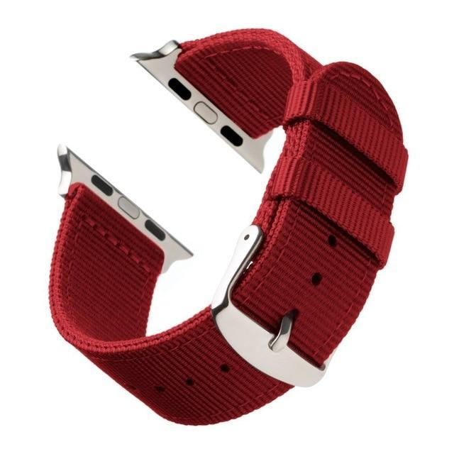Watchbands Red White / 44mm Eastar Lightweight Breathable waterproof Nylon strap for apple watch 5 band 42mm 38mm for iWatch serise 4 3 2 1 watchband