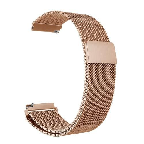 Watchbands rose gold / 22mm 20mm/22mm Universal Milanes loop strap Magnetic Closure Stainless Steel Watch Band Quick Release metal smartwatch bracelet belt