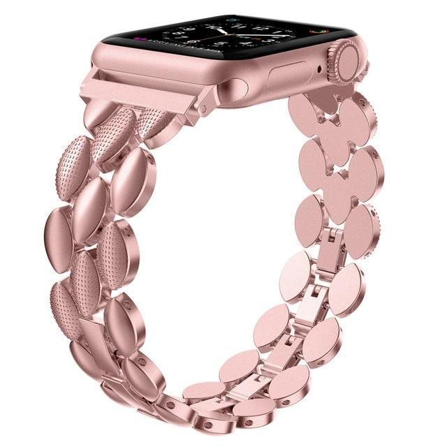 Watchbands Rose Gold / 38mm 40mm Luxury Metal Stainless Steel Band for Apple Watch Bands 38mm 42mm 40mm 44mm Fashion Women Men Strap for iwatch series 5/4/3/2/1