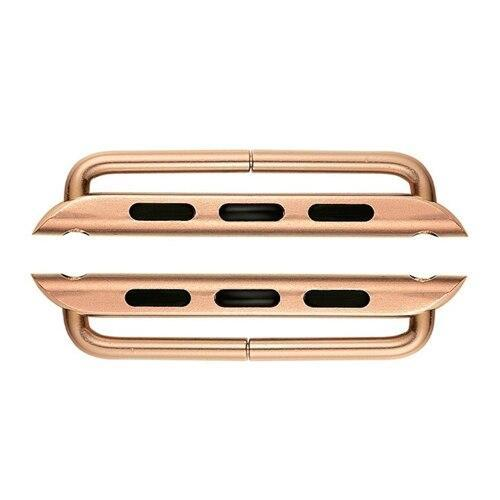 Watchbands rose gold / 38mm watch connector for apple watch band/strap 44mm 40mm 42mm 38mm stainless steel metal Adapter for iwatch belt 5/4/3/2/1 &Tool