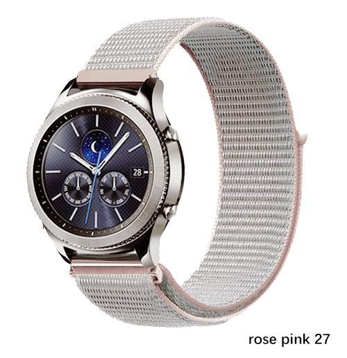 Watchbands rose pink 27 / 20mm Gear s3 Frontier strap For Samsung galaxy watch 46mm 42mm active 2 nylon 22mm watch band huawei watch gt strap amazfit bip 20 44