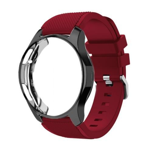 Watchbands Rose red 21 / Galaxy watch 42mm Case+20mm watch strap For Samsung gear S3 Frontier 46mm huawei watch GT strap 22mm watch band amazfit bip strap+protective case