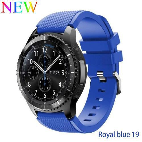 Watchbands Royal blue 19 / 22mm 20 22mm watch band For Samsung Galaxy watch 46mm 42mm active 2 gear S3 Frontier strap huawei watch GT 2 strap amazfit bip 47 44