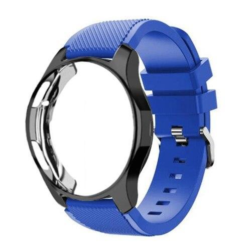 Watchbands Royal blue 19 / Galaxy watch 42mm Case+20mm watch strap For Samsung gear S3 Frontier 46mm huawei watch GT strap 22mm watch band amazfit bip strap+protective case