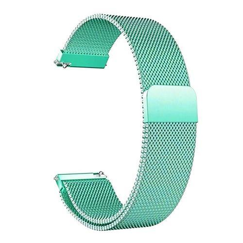 Watchbands royal blue / 22mm 20mm/22mm Universal Milanes loop strap Magnetic Closure Stainless Steel Watch Band Quick Release metal smartwatch bracelet belt
