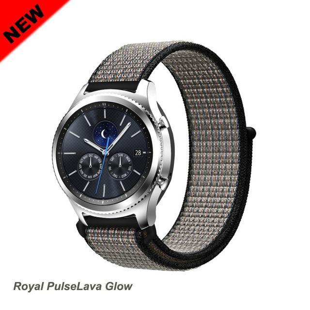 Watchbands Royal PulseLava 51 / 20mm Gear s3 Frontier strap For Samsung galaxy watch 46mm 42mm active 2 nylon 22mm watch band huawei watch gt strap amazfit bip 20 44