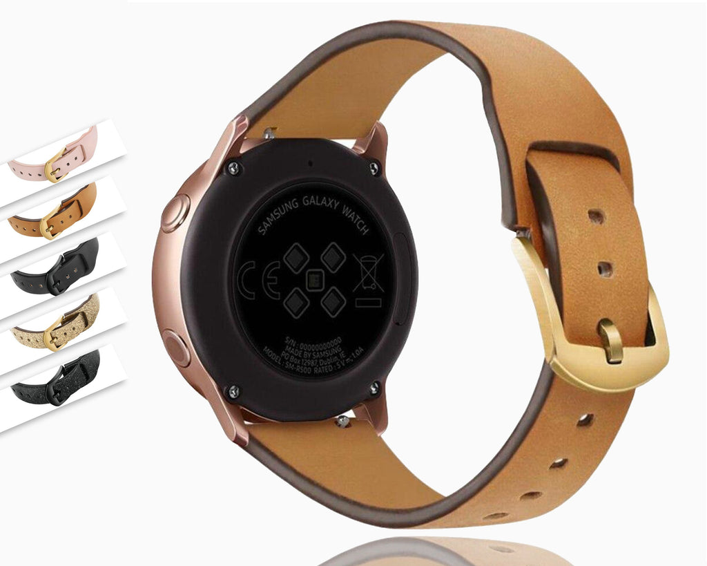 Watchbands Samsung watch active 1 & 2, Galaxy 46mm 42mm, Gear S3 strap, Frontier band Leather Watchband for Samsung watch 22mm 20mm Replacement straps