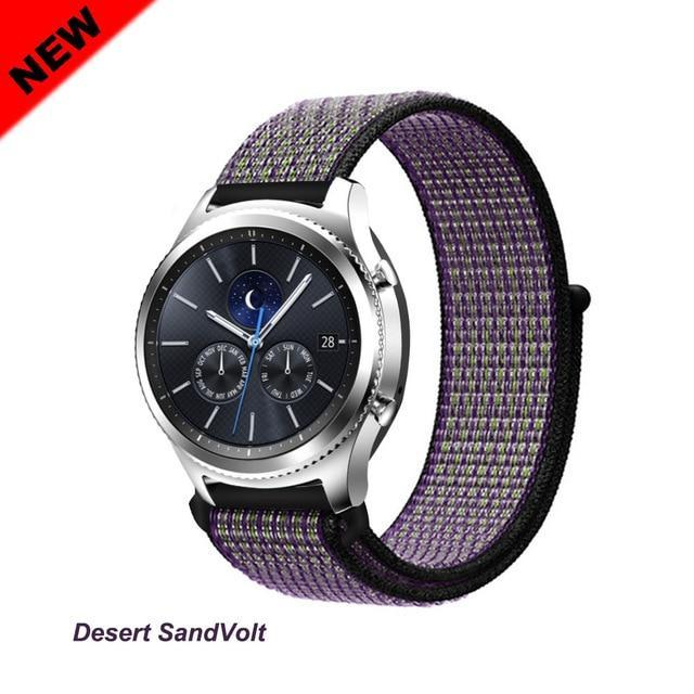 Watchbands SandVolt 49 / 20mm Gear s3 Frontier strap For Samsung galaxy watch 46mm 42mm active 2 nylon 22mm watch band huawei watch gt strap amazfit bip 20 44
