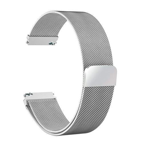 Watchbands silver / 22mm 20mm/22mm Universal Milanes loop strap Magnetic Closure Stainless Steel Watch Band Quick Release metal smartwatch bracelet belt