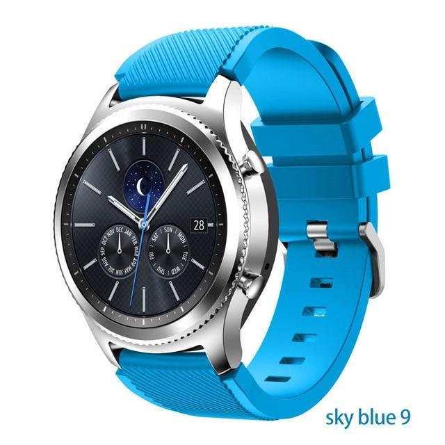 Watchbands sky blue 9 / 22mm 20 22mm watch band For Samsung Galaxy watch 46mm 42mm active 2 gear S3 Frontier strap huawei watch GT 2 strap amazfit bip 47 44