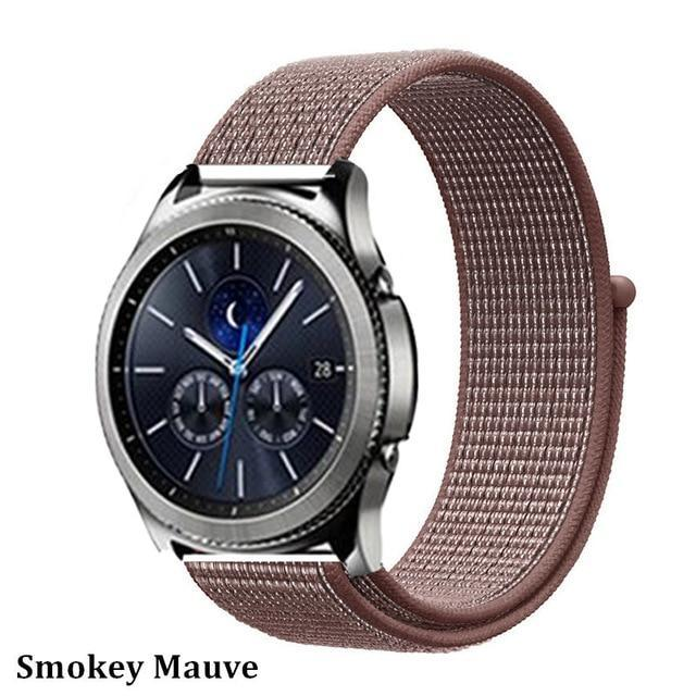 Watchbands smokey mauve 38 / 20mm Gear s3 Frontier strap For Samsung galaxy watch 46mm 42mm active 2 nylon 22mm watch band huawei watch gt strap amazfit bip 20 44