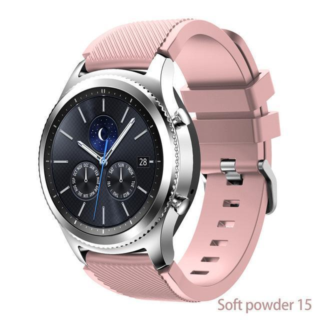 Watchbands Soft powder 15 / 22mm 20 22mm watch band For Samsung Galaxy watch 46mm 42mm active 2 gear S3 Frontier strap huawei watch GT 2 strap amazfit bip 47 44
