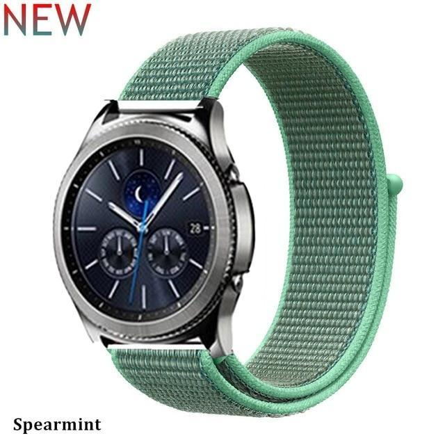 Watchbands spearmint 31 / 20mm Gear s3 Frontier strap For Samsung galaxy watch 46mm 42mm active 2 nylon 22mm watch band huawei watch gt strap amazfit bip 20 44