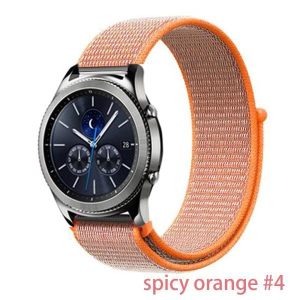 Watchbands spicy orange 4 / 20mm Gear s3 Frontier strap For Samsung galaxy watch 46mm 42mm active 2 nylon 22mm watch band huawei watch gt strap amazfit bip 20 44