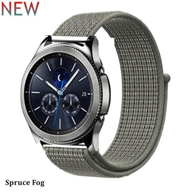 Watchbands sprucc fog 34 / 20mm Gear s3 Frontier strap For Samsung galaxy watch 46mm 42mm active 2 nylon 22mm watch band huawei watch gt strap amazfit bip 20 44