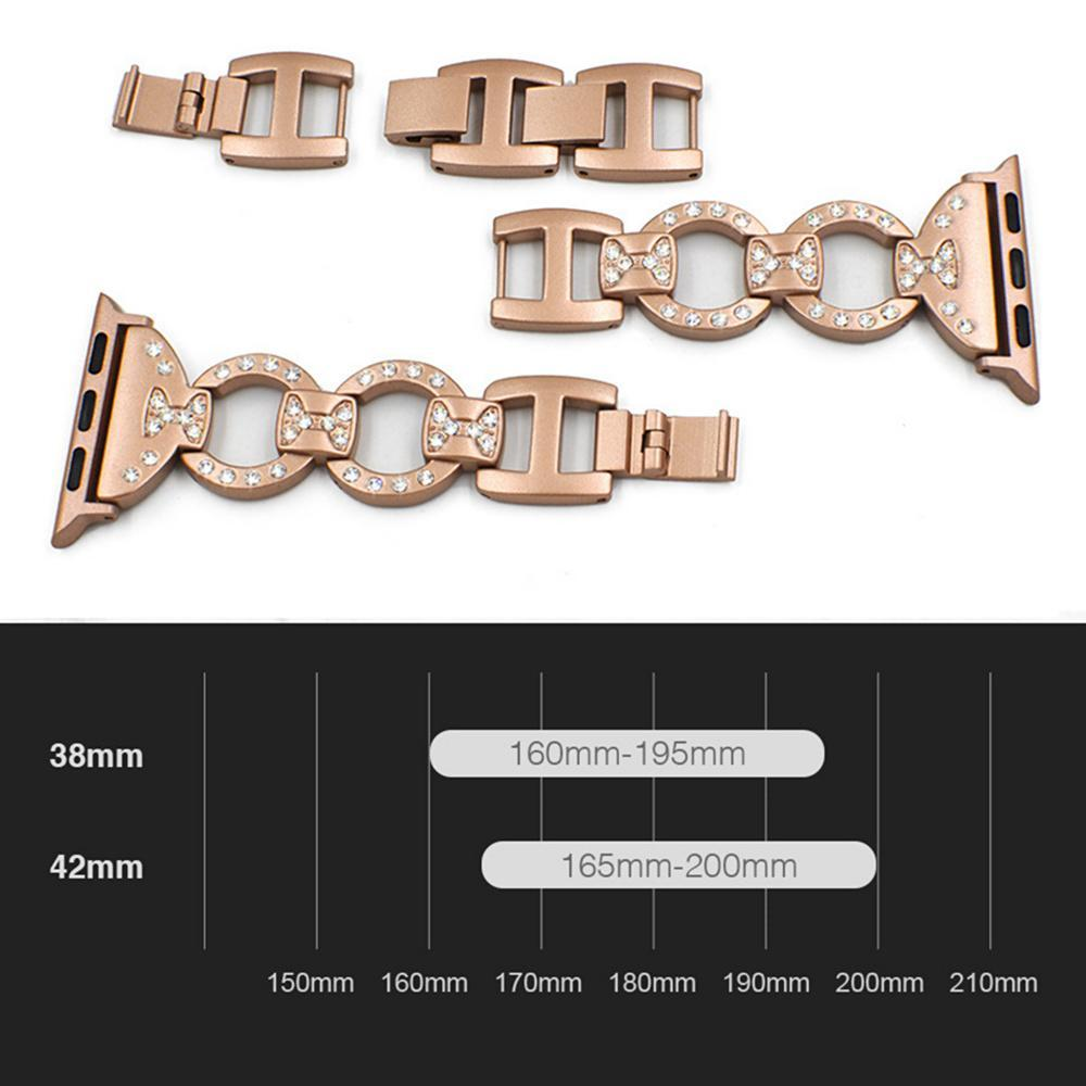 Watchbands Stainless Steel Band For Apple Watch 38 mm 42mm iWatch 5 band 40mm 44mm Diamond Metal Bracelet Strap Apple watch 5 4 3 2 1 series