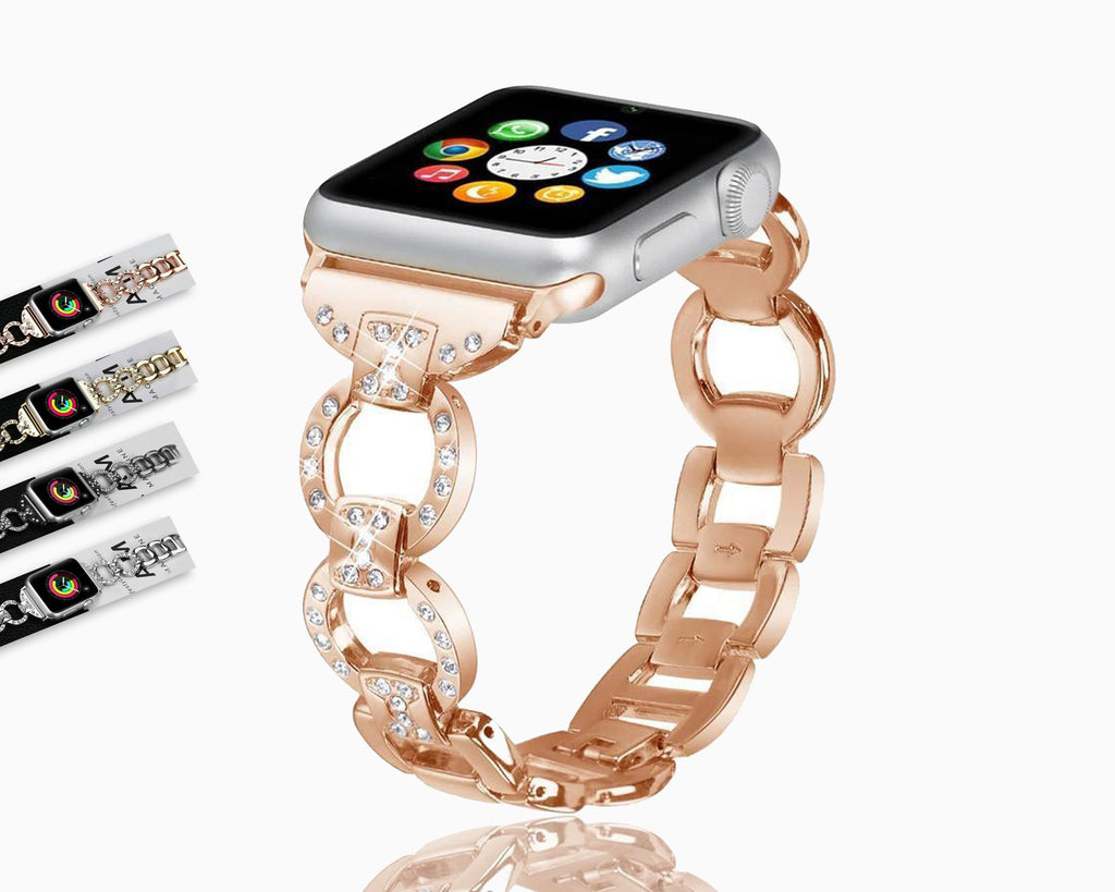 Watchbands Stainless Steel Band For Apple Watch 38 mm 42mm iWatch 5 band 40mm 44mm Diamond Metal Bracelet Strap Apple watch 5 4 3 2 1 series - US Fast Shipping