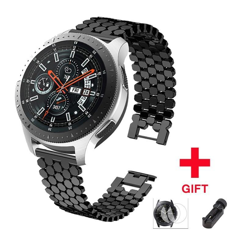 Watchbands Stainless steel strap for samsung galaxy watch 46mm S3 frontier band huawei watch gt huami amazfit 1/2 bracelet belt Accessories