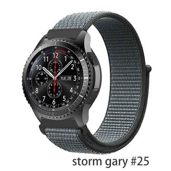 Watchbands storm gary 25 / 20mm Gear s3 Frontier strap For Samsung galaxy watch 46mm 42mm active 2 nylon 22mm watch band huawei watch gt strap amazfit bip 20 44