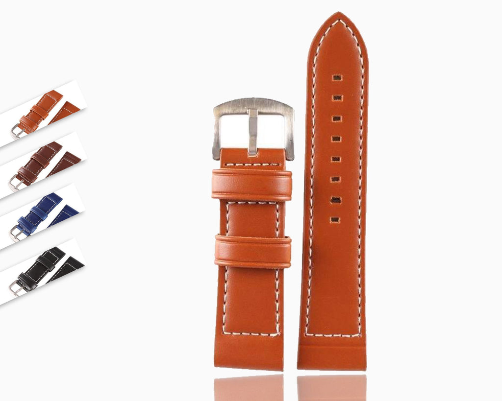 Watchbands Strap 18MM 20MM 22MM 24MM 26MM  Vintage  Leather / Watch Band Watch Men Strap Man Watches Straps Black Brown Blue|Watchbands|