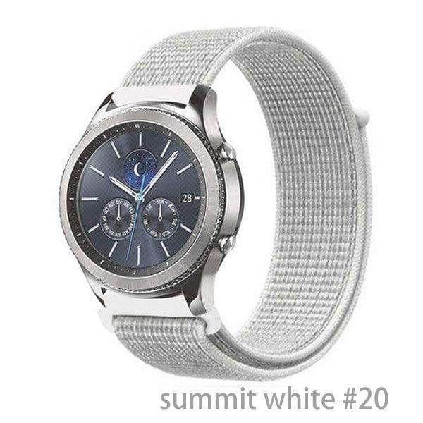 Watchbands summit white 20 / 20mm Gear s3 Frontier strap For Samsung galaxy watch 46mm 42mm active 2 nylon 22mm watch band huawei watch gt strap amazfit bip 20 44