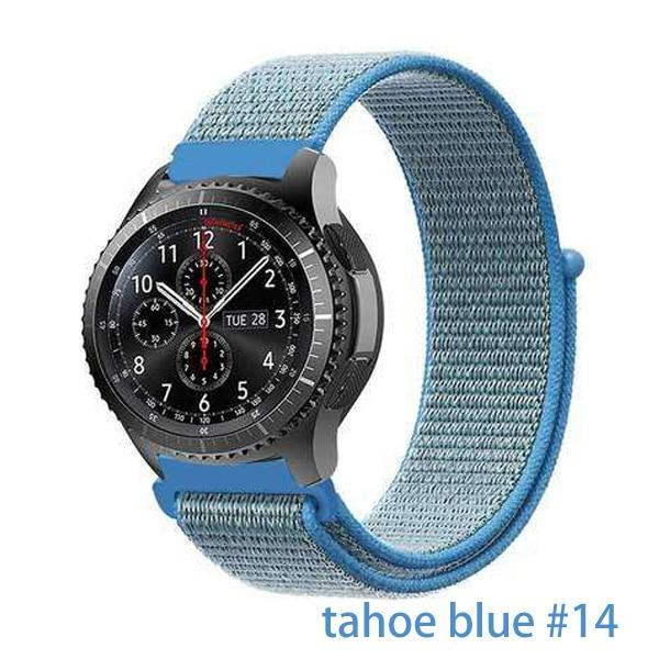 Watchbands tahoe blue 14 / 20mm Gear s3 Frontier strap For Samsung galaxy watch 46mm 42mm active 2 nylon 22mm watch band huawei watch gt strap amazfit bip 20 44