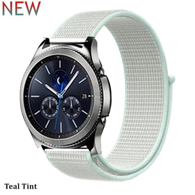 Watchbands teal tint 30 / 20mm Gear s3 Frontier strap For Samsung galaxy watch 46mm 42mm active 2 nylon 22mm watch band huawei watch gt strap amazfit bip 20 44