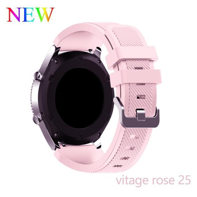 Watchbands vintage rose 25 / 22mm 20 22mm watch band For Samsung Galaxy watch 46mm 42mm active 2 gear S3 Frontier strap huawei watch GT 2 strap amazfit bip 47 44