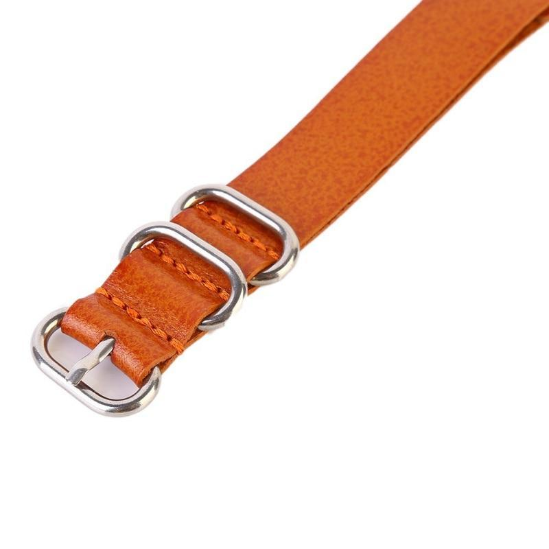 Watchbands Watch Band Strap Genuine Leather Stainless Steel Ring Pin Buckled Wristband Wristwatch Bands Replacement Accessories|Watchbands|