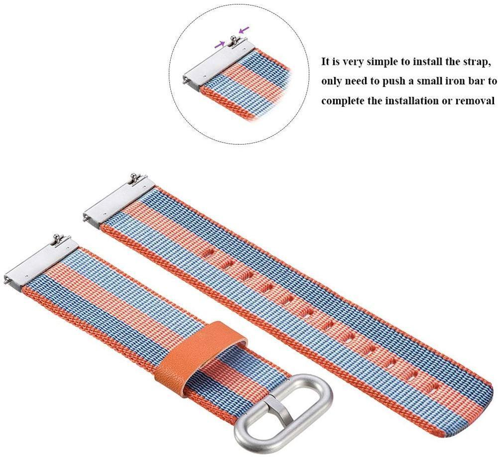 Watchbands Woven nylon band for Samsung Galaxy Watch 46mm 42mm Active 2 Huawei GT 2 strap Magic Huami Amazfit Bracelet watch Band 22mm 20mm