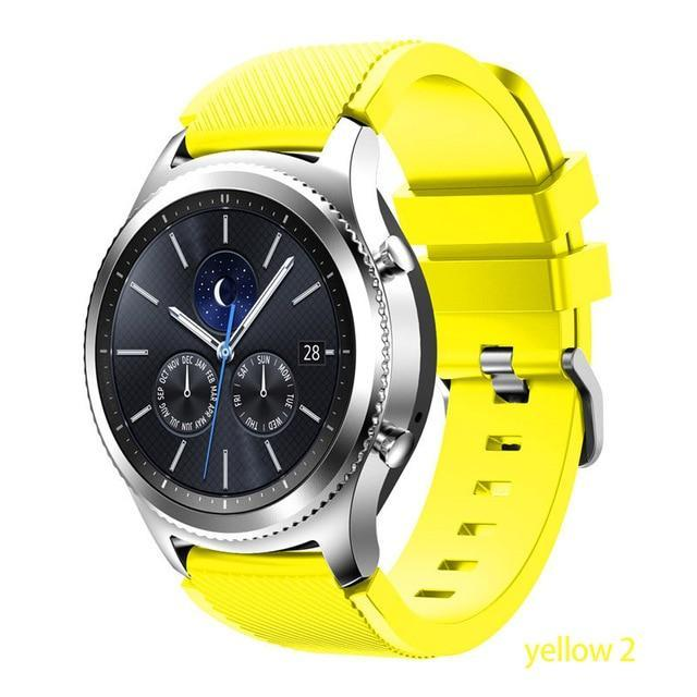 Watchbands yellow 2 / 22mm 20 22mm watch band For Samsung Galaxy watch 46mm 42mm active 2 gear S3 Frontier strap huawei watch GT 2 strap amazfit bip 47 44
