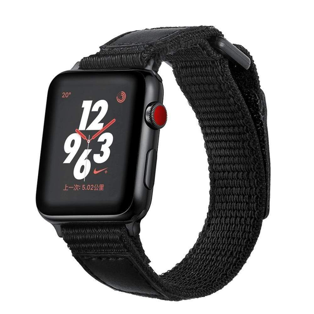 Watches 38mm / 40mm Apple Watch Series 5 4 3 2 Band, Leather Sport Loop Woven Nylon Breathable wrist band belt, 38mm, 40mm, 42mm, 44mm - US Fast Shipping