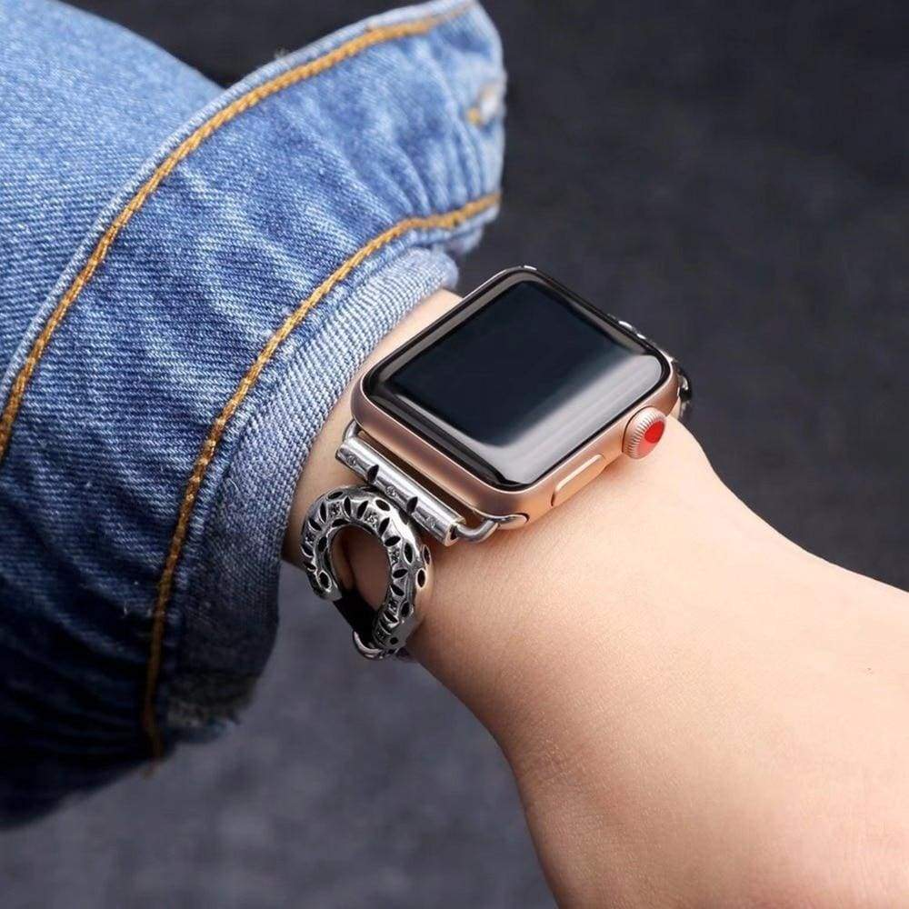 Watches Apple Watch band leather ethnic bracelet, Stainless Steel 44mm/ 40mm/ 42mm/ 38mm , iwatch Series 1 2 3 4