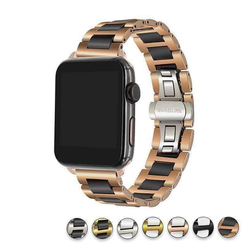 Watches Apple Watch ceramic band, Stainless Steel Link Watchband for iWatch 44mm/ 40mm/ 42mm/ 38mm Series 1 2 3 4