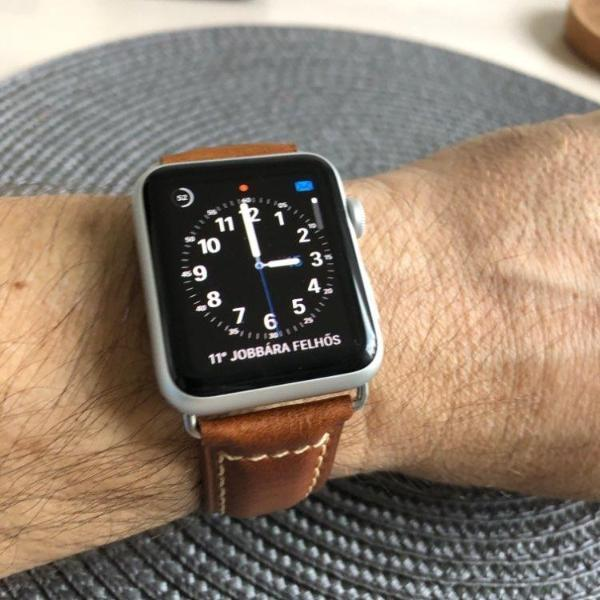 Watches Apple Watch Series 5 4 3 2 Band, Genuine Leather Band Oil Wax Strap 38mm, 40mm, 42mm, 44mm