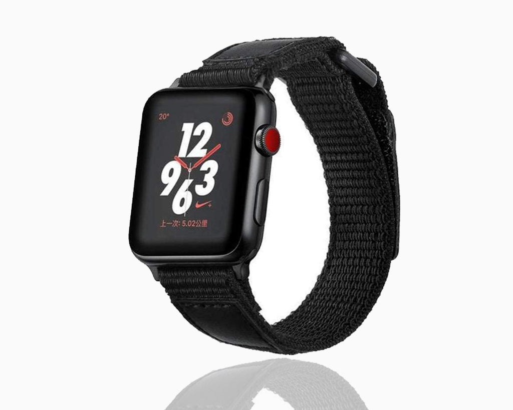 Watches Apple Watch Series 5 4 3 2 Band, Leather Sport Loop Woven Nylon Breathable wrist band belt, 38mm, 40mm, 42mm, 44mm - US Fast Shipping