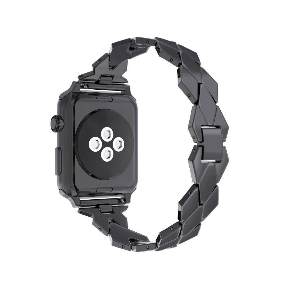 Watches Apple Watch Series 5 4 3 2 Band, Stainless Steel Strap Diamond shape, link bracelet wrist band,  38mm, 40mm, 42mm, 44mm - USA Fast Shipping