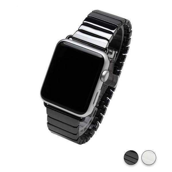 Watches black / 38mm/42mm Apple Watch ceramic band 2, stainless Steel Watchband for iWatch 44mm/ 40mm/ 42mm/ 38mm Series 1 2 3 4