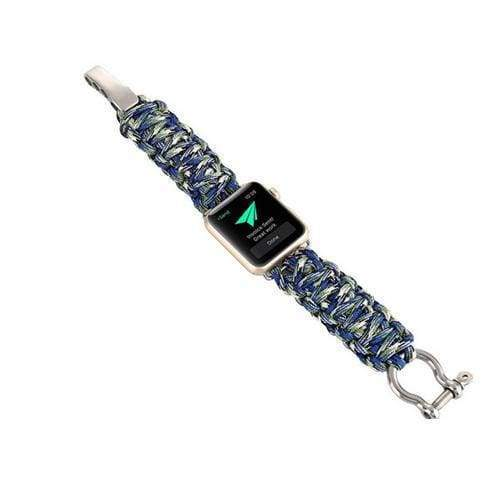 Watches Camouflage5 / 38mm/40mm Umbrella rope watch strap band for apple watch Series 1 2 3 4 iwatch 44mm/ 40mm/ 42mm/ 38mm bracelet for old customers, USA Fast Shipping