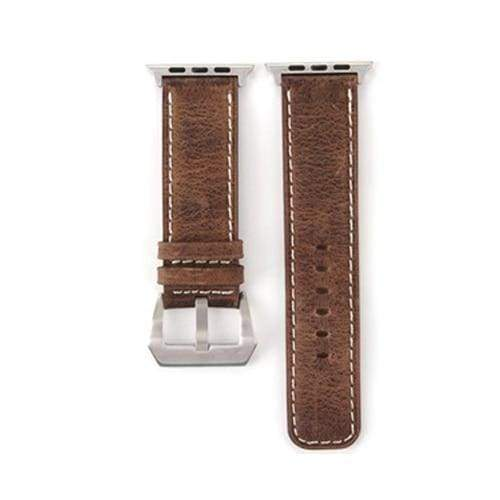 Watches Coffee / 38mm/40mm Genuine Leather  Apple watch band,  iwatch Series 1 2 3 4 44mm/ 40mm/ 42mm/ 38mm , USA Fast Shipping