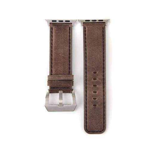 Watches Dark Brown / 38mm/40mm Genuine Leather  Apple watch band,  iwatch Series 1 2 3 4 44mm/ 40mm/ 42mm/ 38mm , USA Fast Shipping