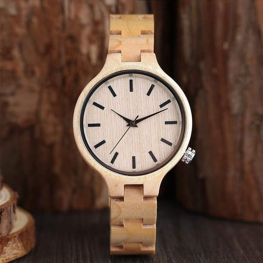 Watches Luxury Natural Maple Bamboo Wood Watches Ladies Fashion