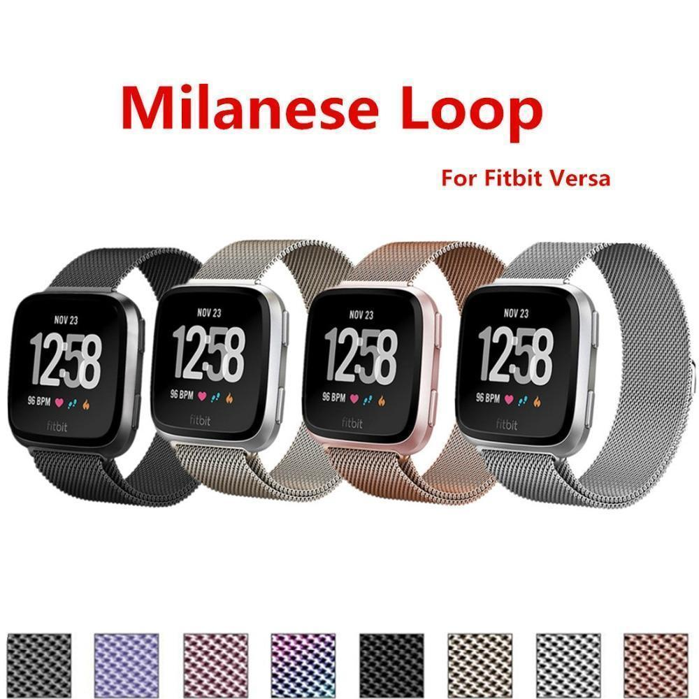 Watches Milanese Loop for Fitbit Versa Bracelet Stainless Steel watch Strap Replacement Band wrist belt smart tracker Accessories