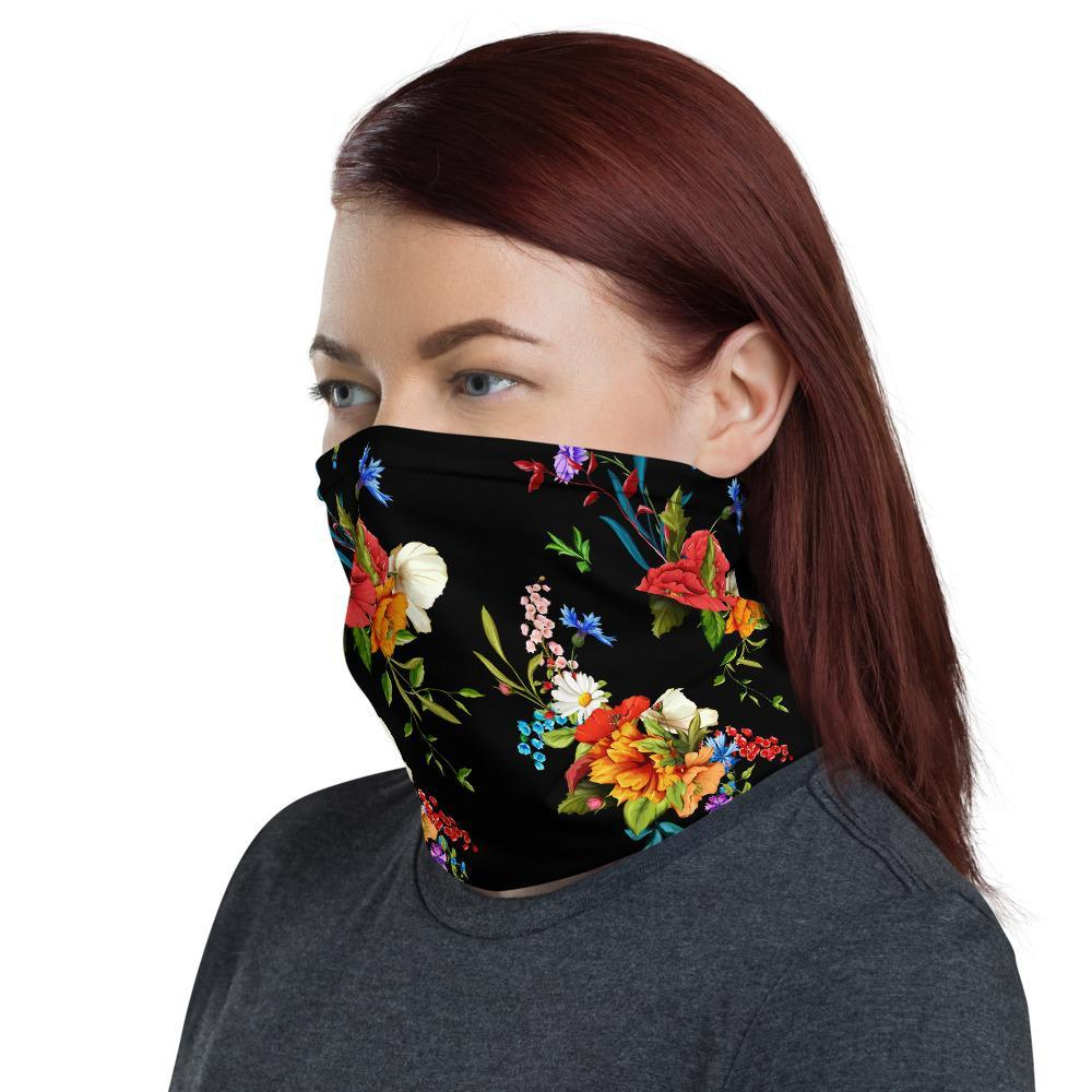 Wild Flower 12 in 1 Multi-functional Floral Face Mask Cover Scarf, Head-wear, Headband, Neck Gaiter Bandanna Balaclava - US Fast Shipping