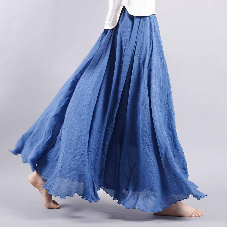 "women bottoms Sizes M - L, Fits 24""-37"" Waist, 12 Colors, Women Linen Cotton Vintage Long Boho Skirt"