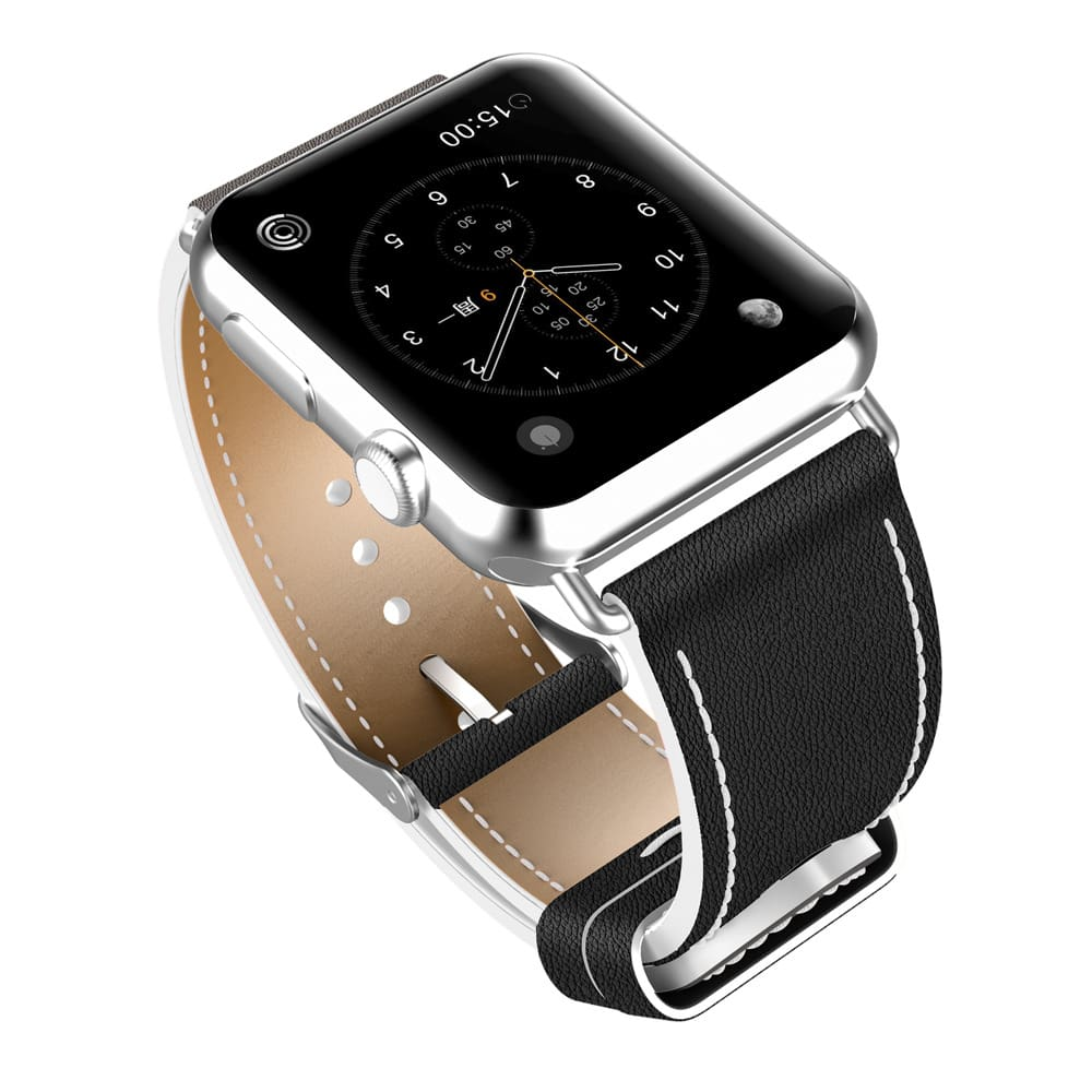 New Fashion Watchband For Apple Watch Band 44Mm/ 40Mm/ 42Mm/ 38Mm Watchband Genuine Leather Belt For Iwatch Series 1 2 3 4 Strap Leather